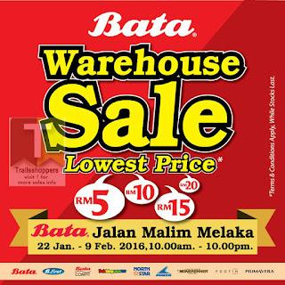 Bata Warehouse Sale in Melaka 2016