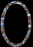 Moldura oval oncinha