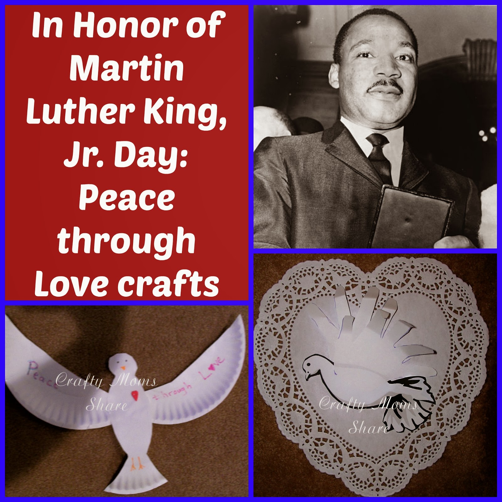 Crafty Moms Share Peace Through Love Teachings Of Dr Martin Luther