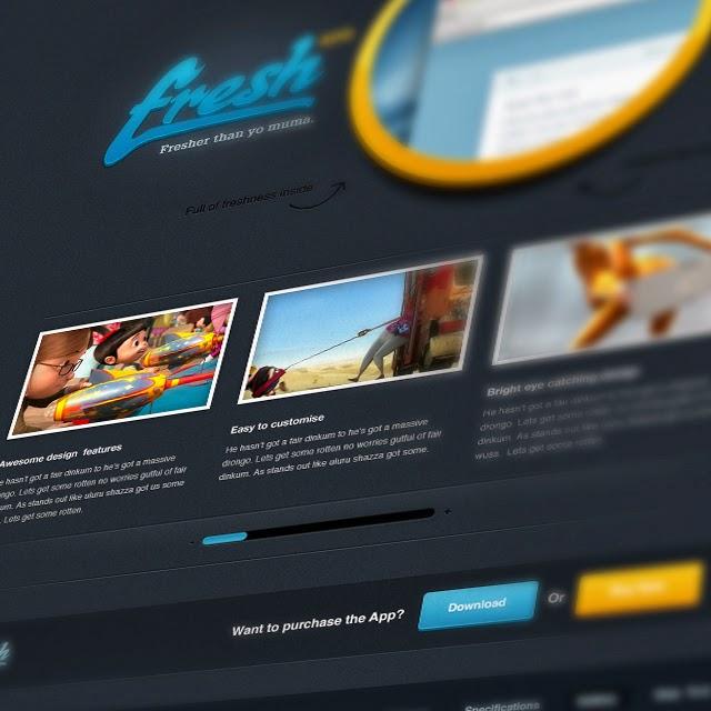Free Website PSD & Free PSDs
