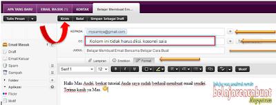 Contoh Pengisian Email Yahoo