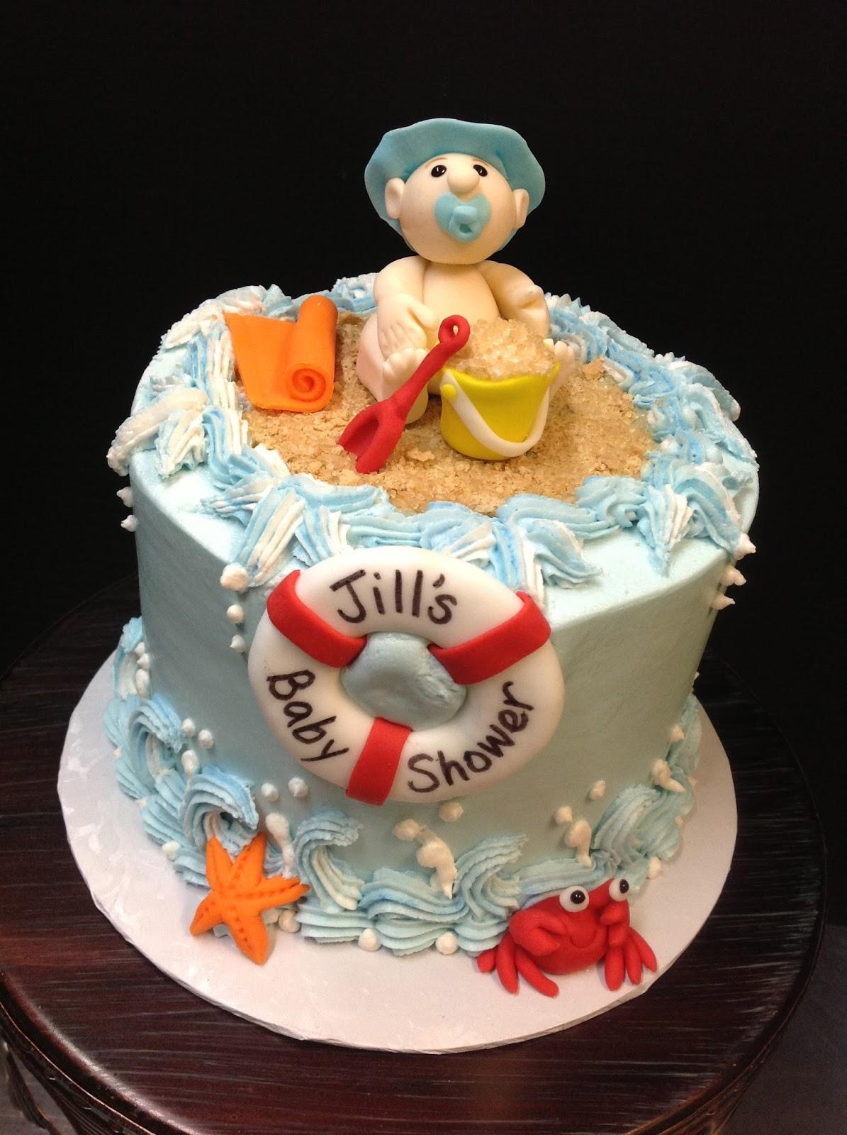 Plumeria Cake Studio Beach Themed Baby Shower