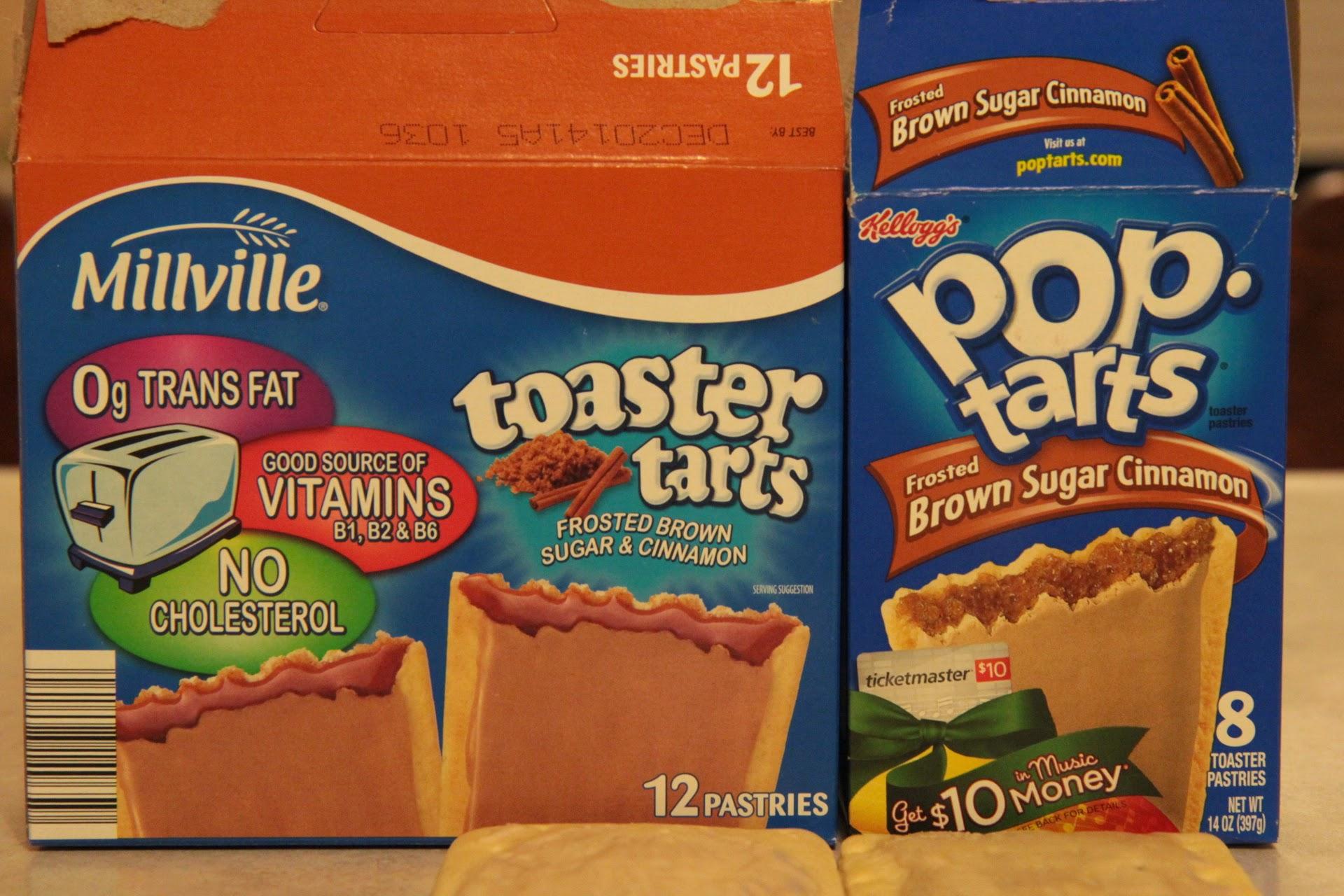 Millville Toaster Tarts vs. Kellogg's Pop Tarts: Toaster Pastry