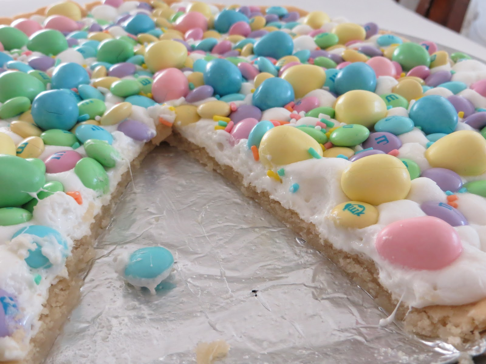 ... All the ingredients for.....the perfectly sweet Spring Cookie Pizza