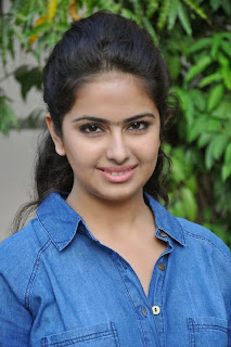 Acress Avika Gor Pictures in Pink Tight Jeans at Uyyala Jampala Movie Press Meet 0007.jpg