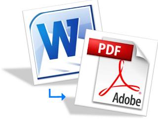 Cara Mengubah  File Word Ke Pdf, cara menconvert