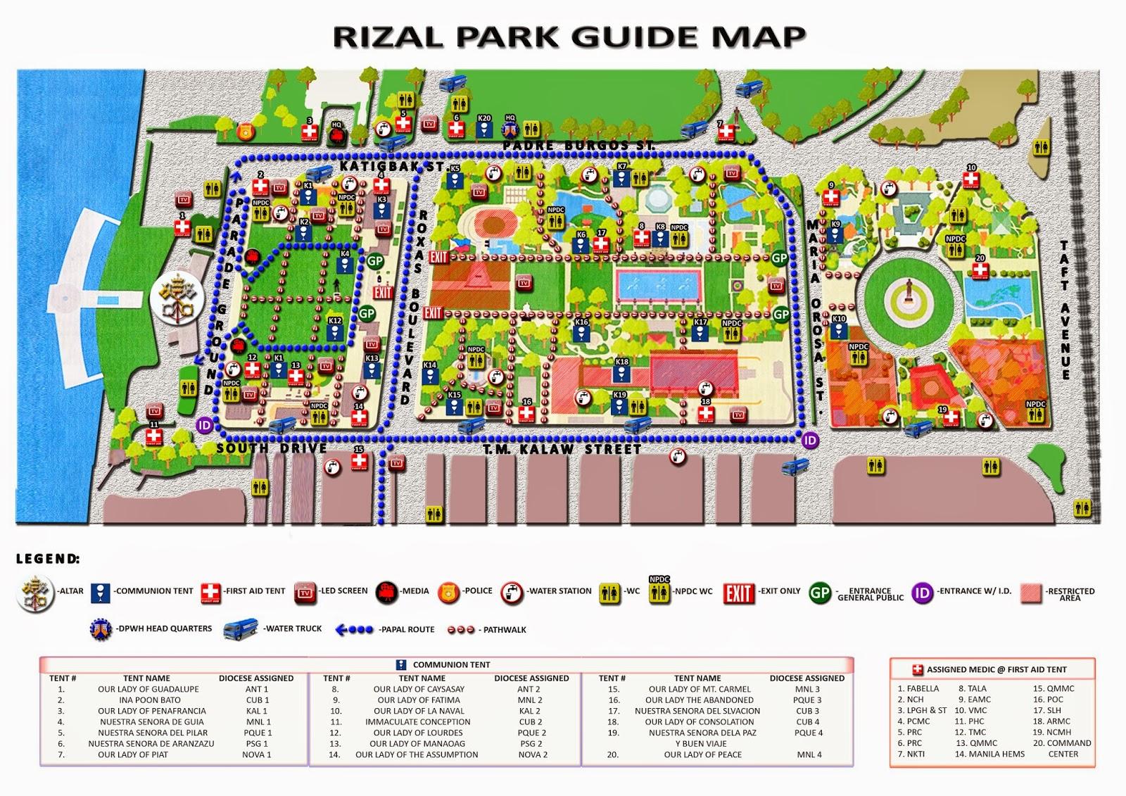pope francis in Luneta - Rizal Park Manila