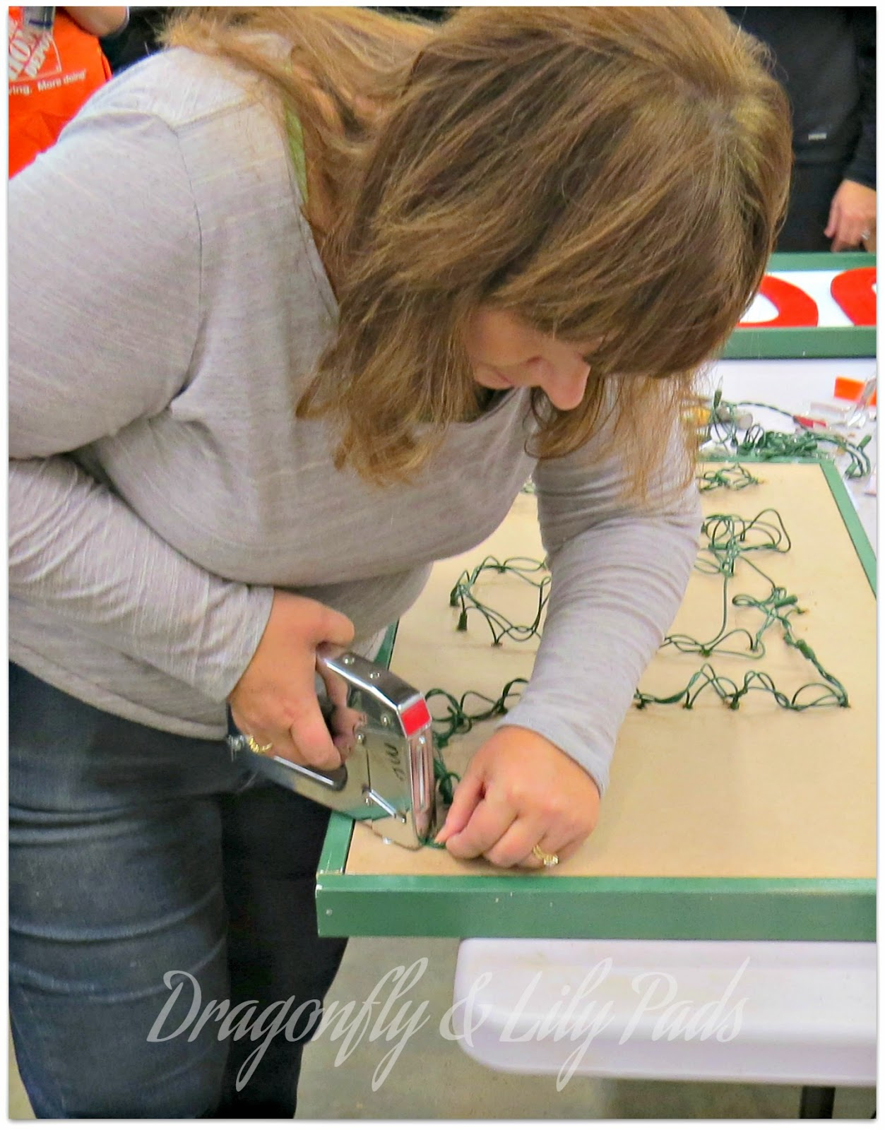 Staple Gun, Christmas Lights Home Depot Joy Marquee sign, Her It Yourself Workshop