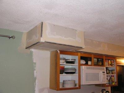 Soffit Above the Kitchen Cabinets ~ Small Kitchen Renovation