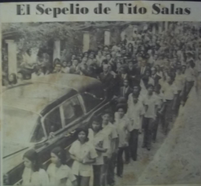 don Tito murió, en mayo de 1974, su sepelio se llenó de pueblo, de