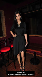 Shruti Hassan in black short dress
