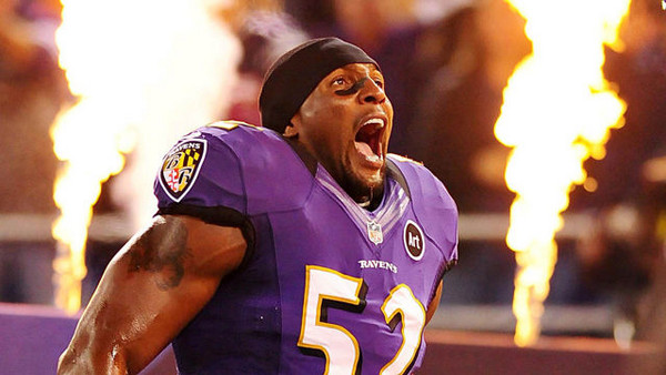 Ray Lewis Ravens Divisional Playoffs 2013