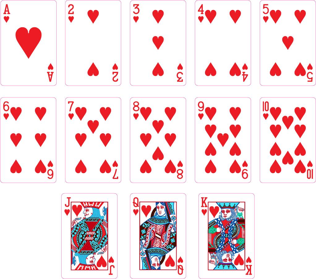 ハートのトランプ カード Heart Playing Cards イラスト素材