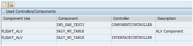 Web Dynpro Component Usage