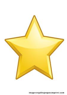 estrella con reflejo para imprimir