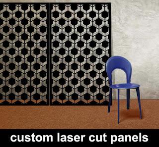 custom laser cut metal panels in hexagonal pattern made in the UK