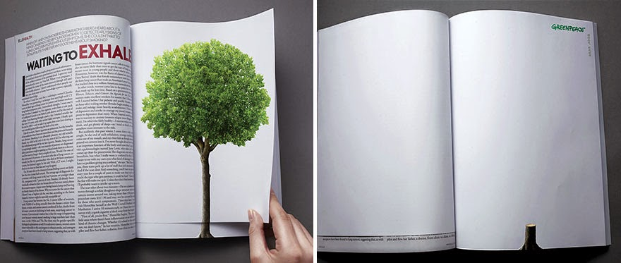 40 Of The Most Powerful Social Issue Ads That'll Make You Stop And Think - Deforestation Continues With The Turn Of A Page