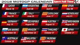 2018 moto gp calendar