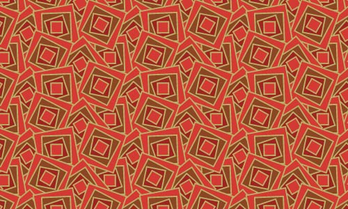 Red Funky Squares