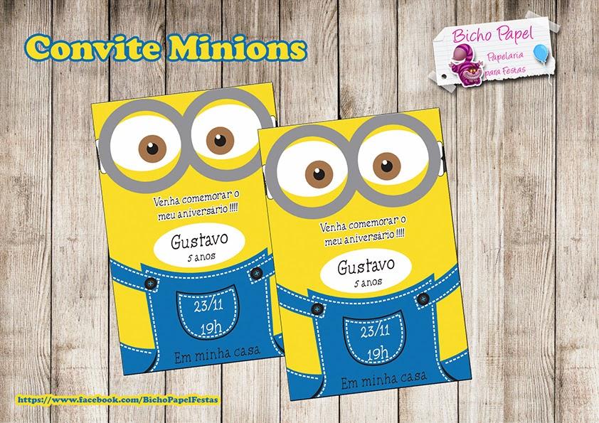 convite Minions Para Imprimir