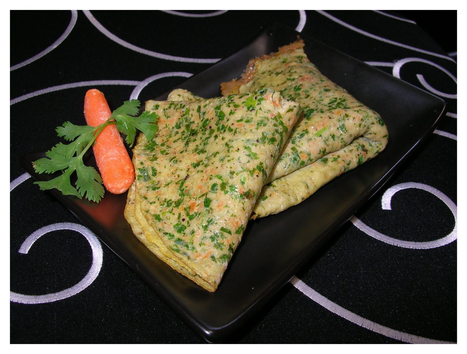 The True Taste Of China Cilantro And Carrot Egg Pan Cake
