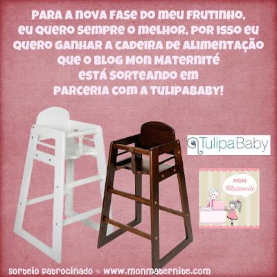 sorteio patrocinado cadeira de alimentação tulipababy para mon maternité
