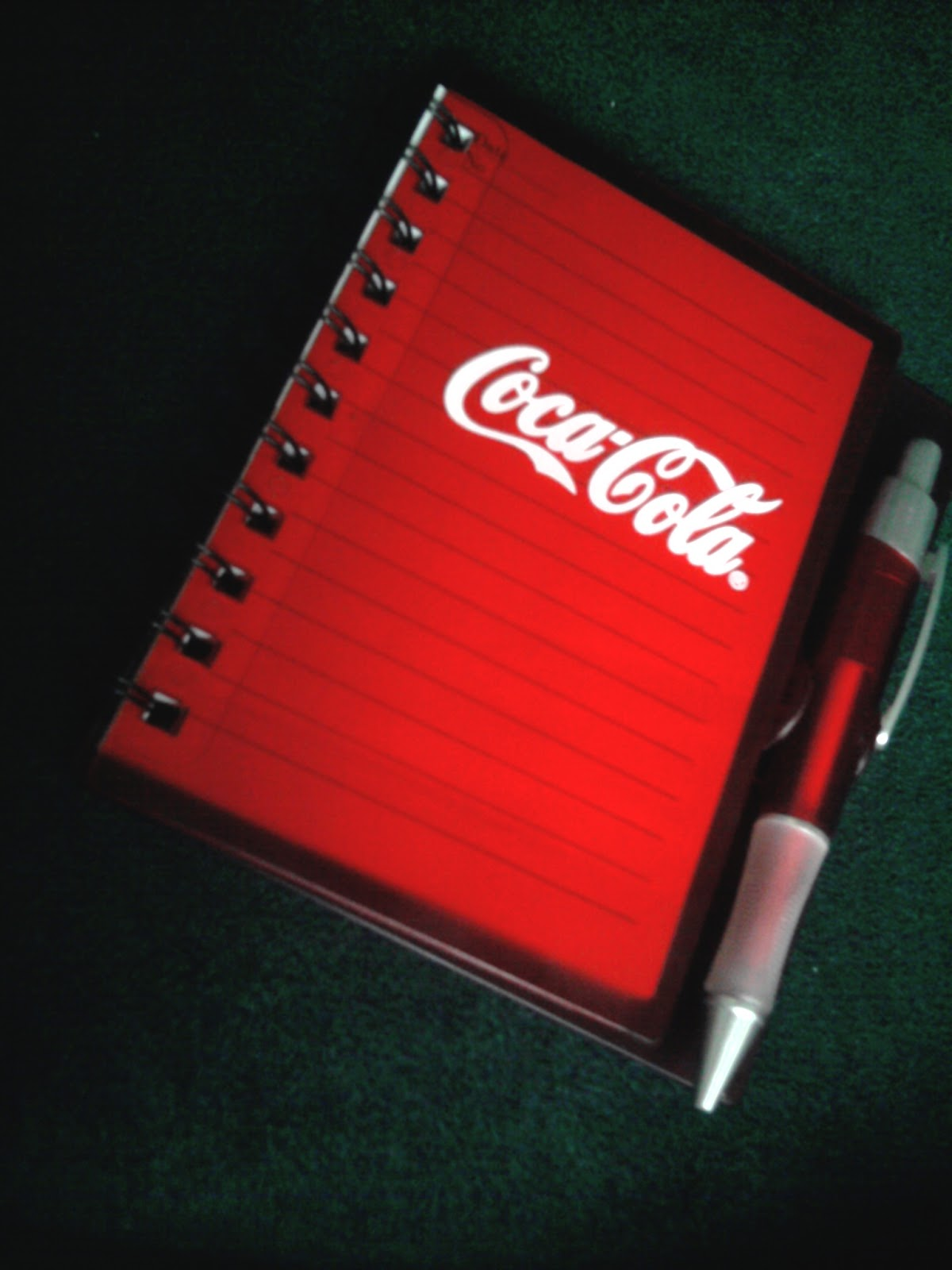 misis know how got a coca cola notebook i don t know when i started loving notebooks i am not a writer or something but everytime i have this even i am not fond of writing it seems that i can