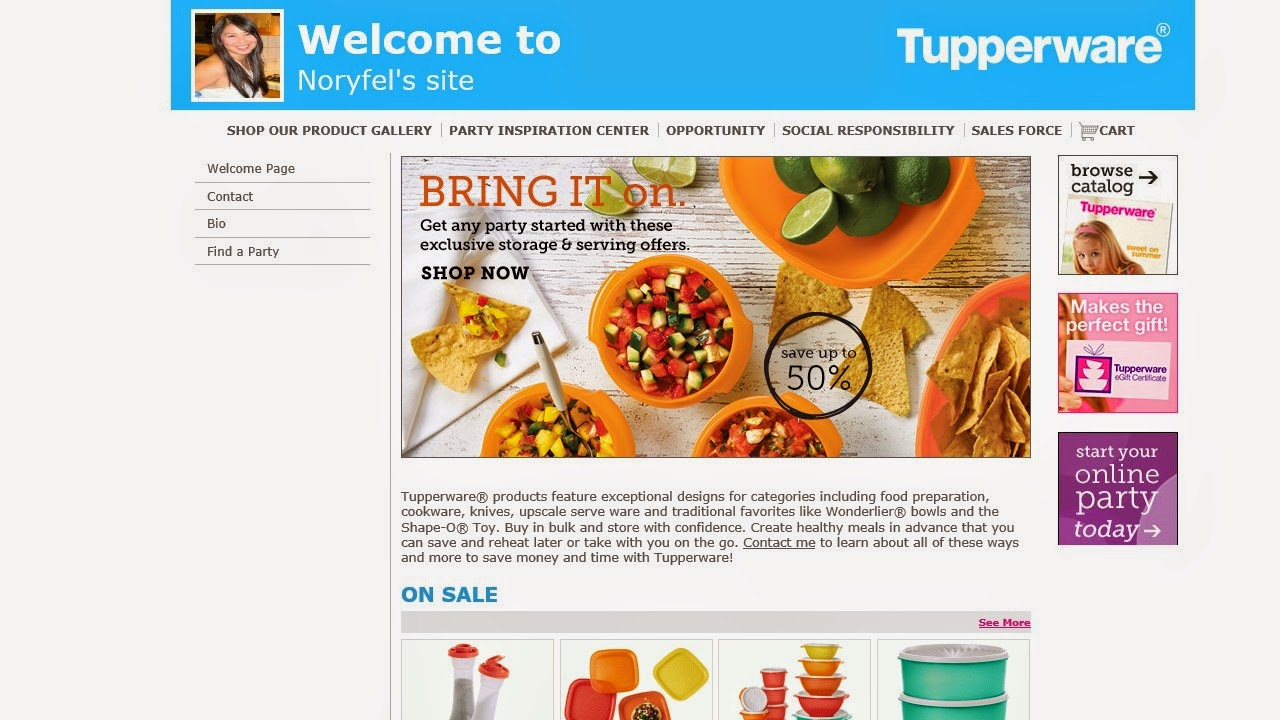 Click To Visit Tupperware Site