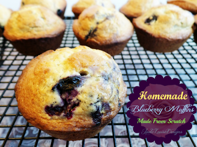Homemade Blueberry Muffins | http://jadelouisedesigns.com
