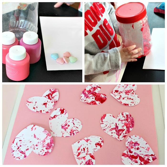 Shake It Up Hearts No Mess Valentine Craft for Preschoolers – Valentine Card Preschool