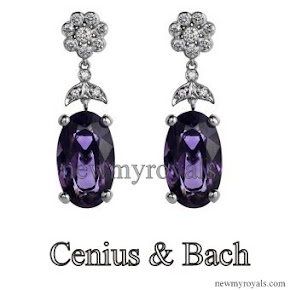 Crown Princess Mary Style Cenius & Bach Flower earrings