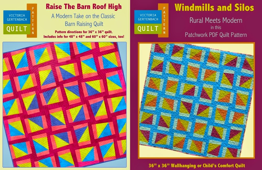 """Raise the Barn Roof High"" and ""Windmills and Silos""  Combo Pattern Pack!"