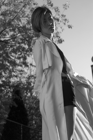 wears the white coat SS12