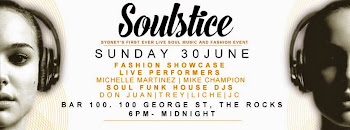 SOULSTICE - Sydney's first ever live soul music & fashion event