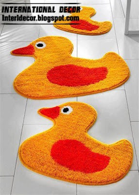 Duck Rugs, Bathroom Rug Set Duck Model, Modern Bath Rug Sets