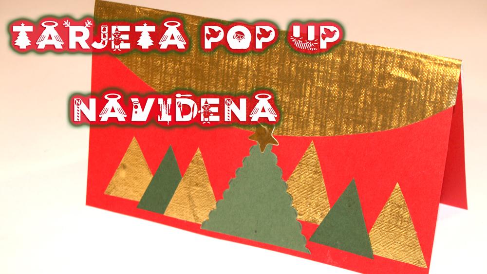 tarjeta pop up navideña