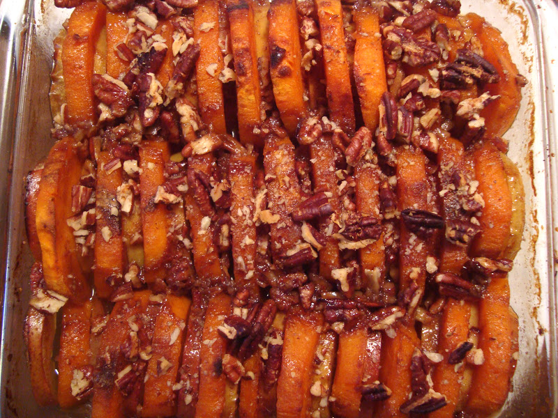 Headspace: Roasted Sweet Potatoes and Apples with Honey Butter Glaze
