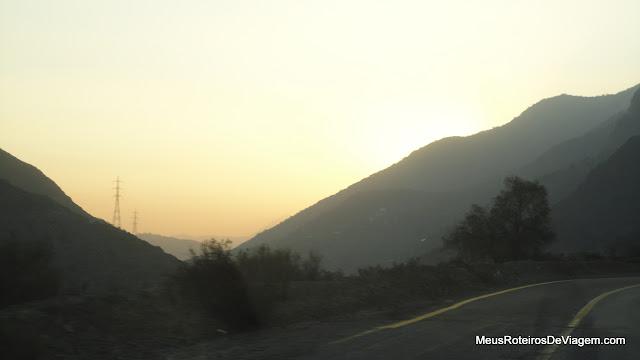 Fim de tarde na Cordilheira dos Andes
