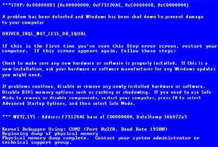 حل مشكلة الشاشة الزرقاء في الويندوز 7