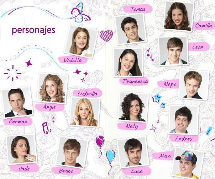 Violetta forever fotos - Tous les personnages de violetta ...