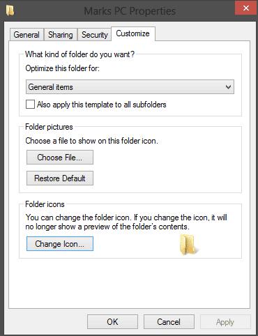 Customize the Windows Folder