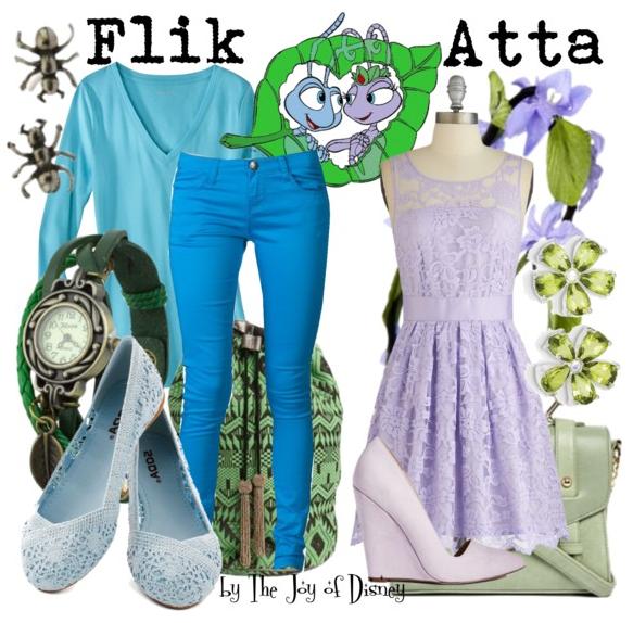 Flik and Anna, Disney Couple Fashion