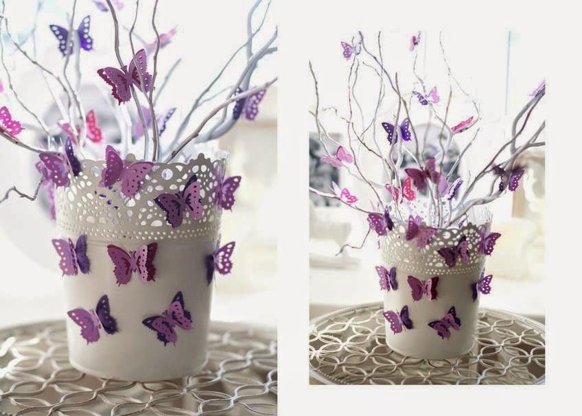 Бабочки украшение дома своими руками - Water-Mart.Ru