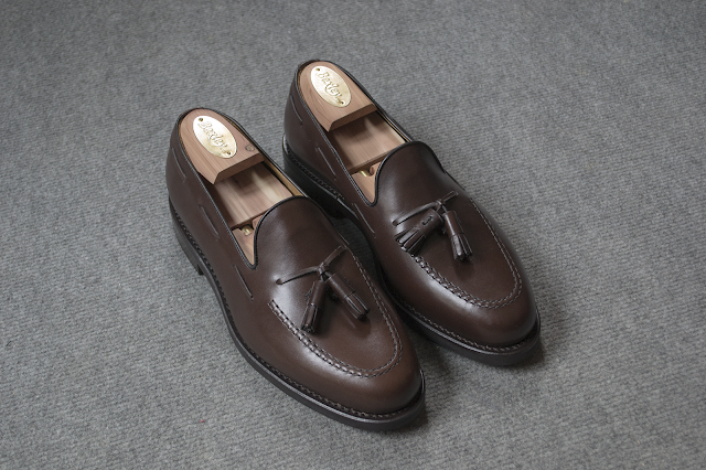 Review mocasines Tassel en calf chocolate de Asthon & Allen (Estellés).