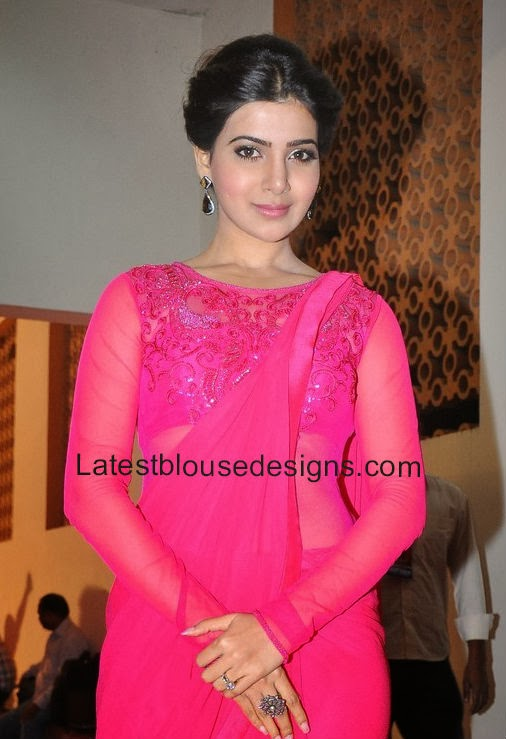 samantha blouse designs