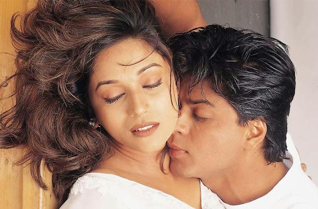 Sharukh Khan and Madhuri Dixit