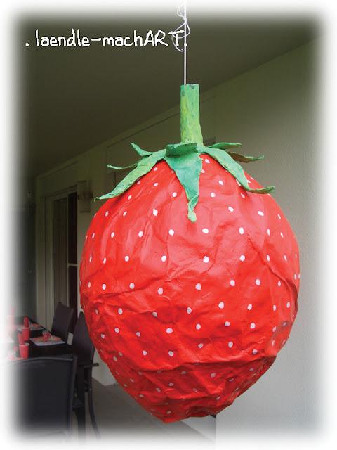 Pinata Erdbeer Kindergeburtstag