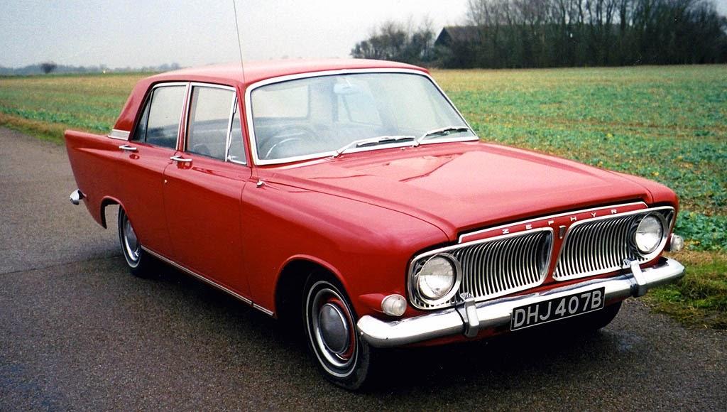 Foto Mobil Klasik 1962-1966 FORD Zephyr MkIII Red