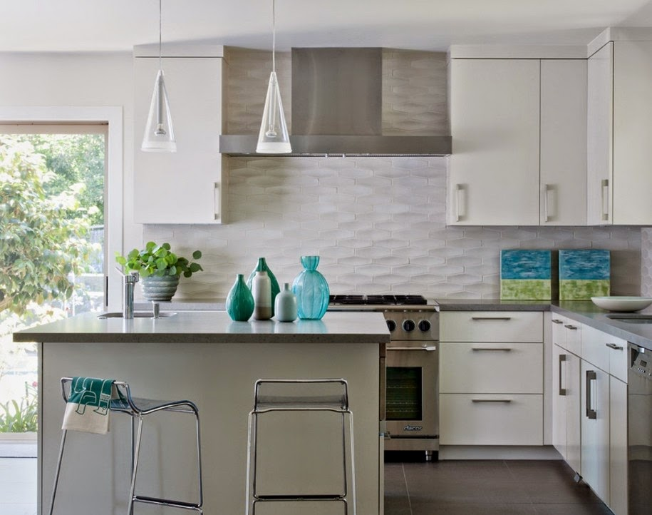 Kitchen Backsplash Designs contemporary white