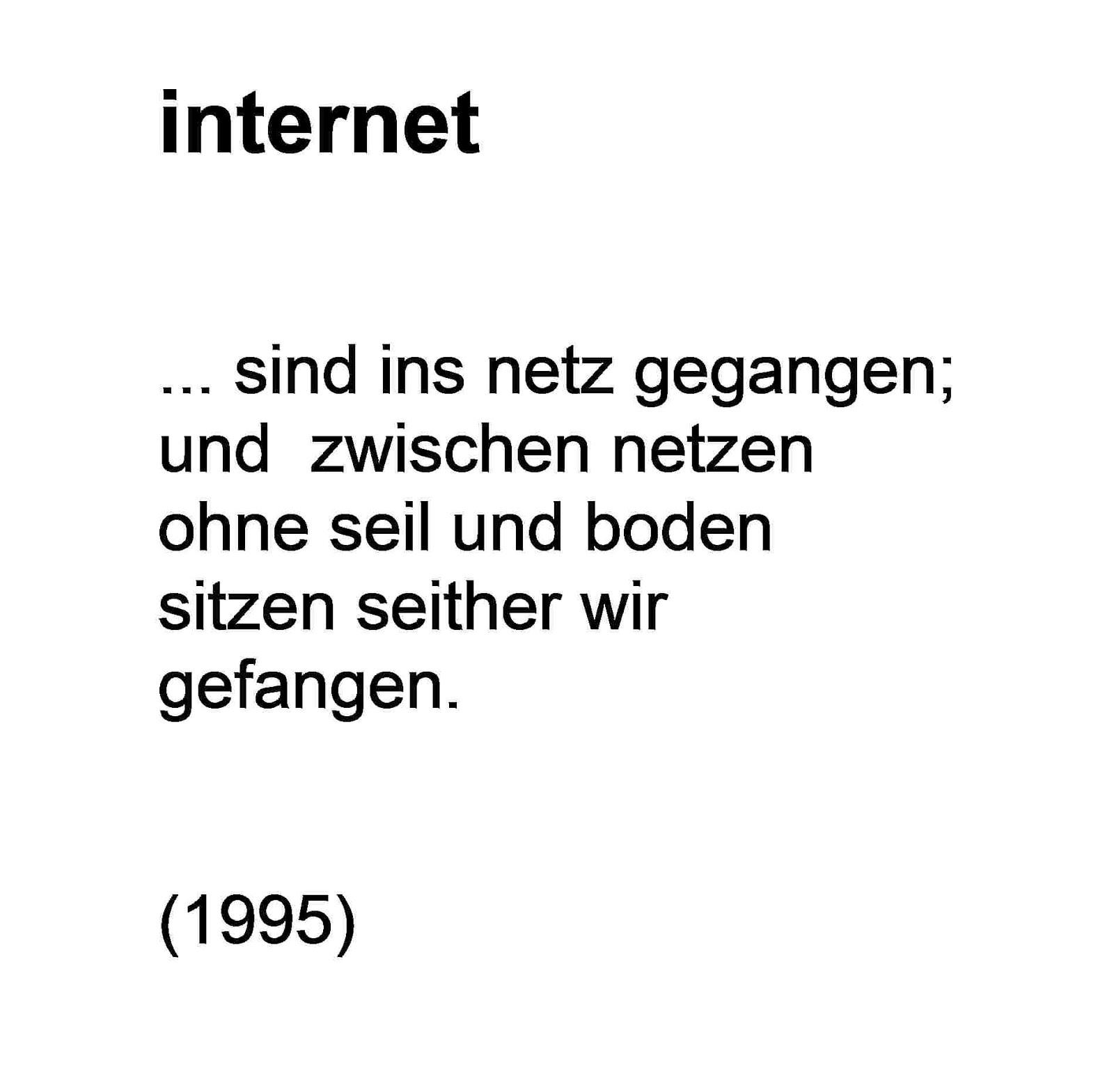 internet GEDICHT mischa vetere 1995 die philosophie der hunde